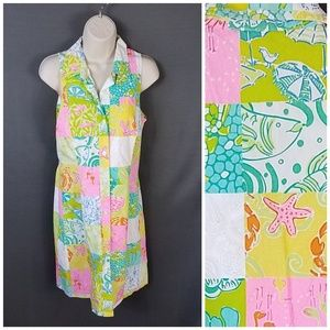Lilly Pulitzer size 8 Button Down Cotton Dress
